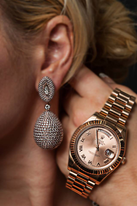 watches and earings